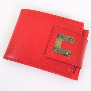 New Vintage 60s Red Leather Wallet Deadstock EUC